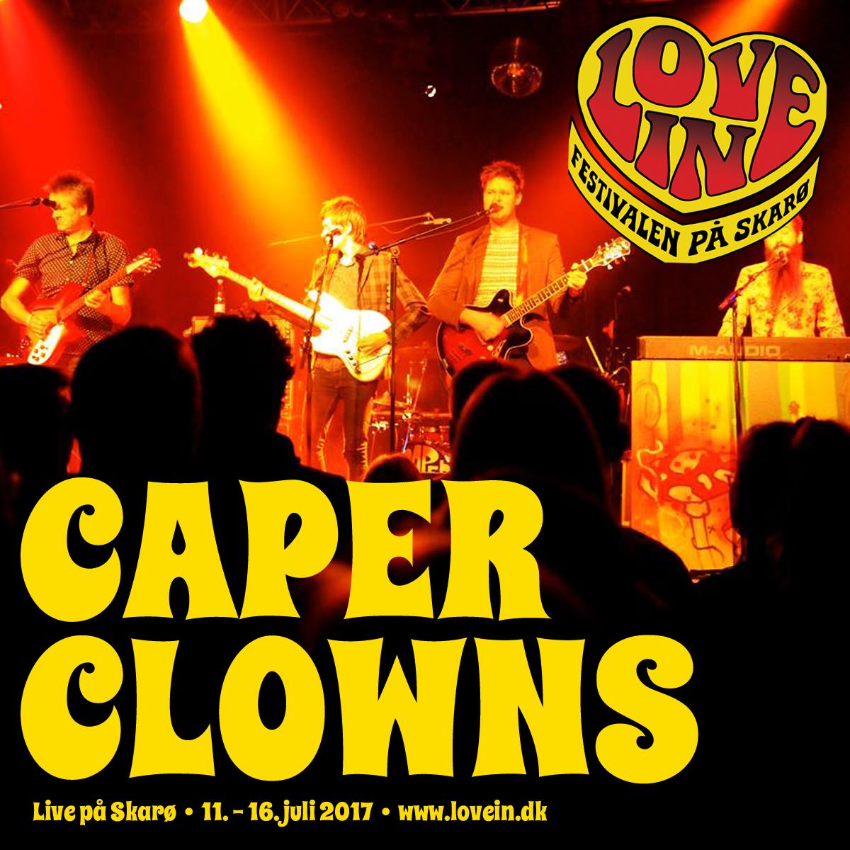 Vi glæder os til Caper Clowns på Love In!