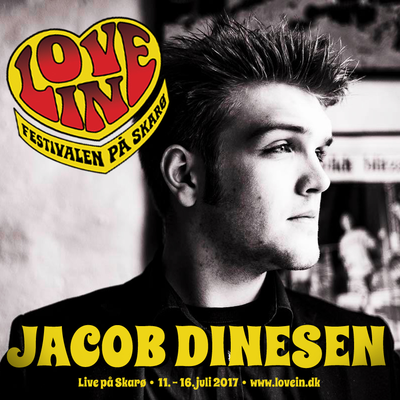 Songwriter Jacob Dinesen er på vej til Love In!
