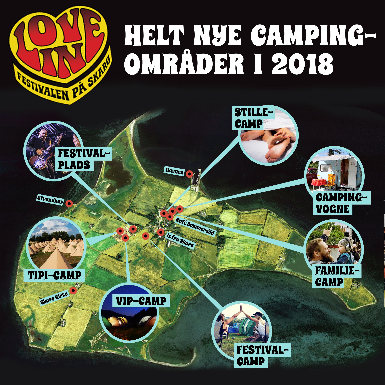 Nye campingområder